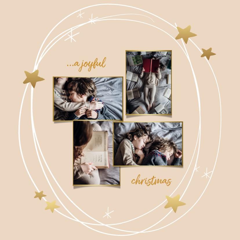 Kerstkaarten - Kerstkaart sterren cirkel