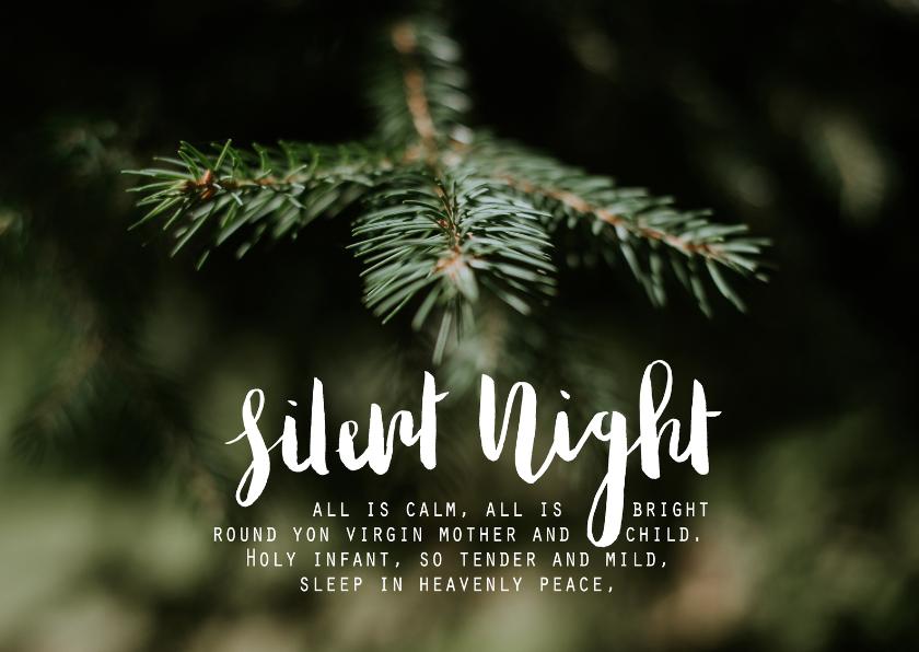 Kerstkaarten - Kerstkaart stille nacht - HM