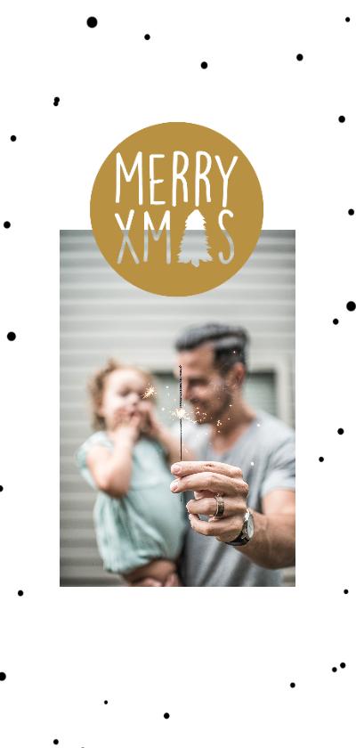 Kerstkaarten - Kerstkaart stip en boom - HM