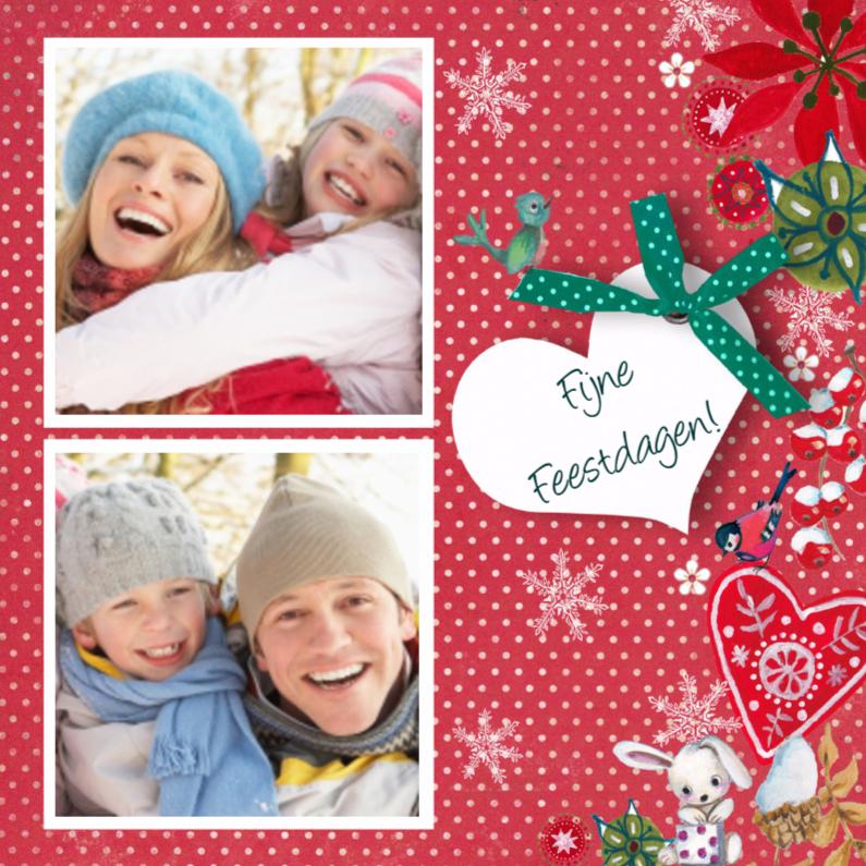 Kerstkaarten - Kerstkaart STIPPEN collage lief