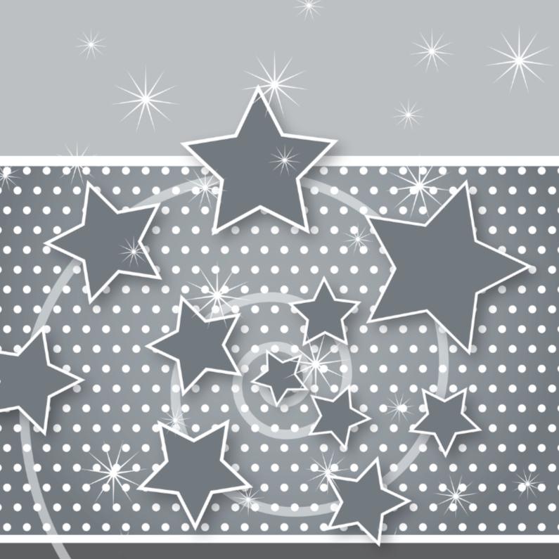 Kerstkaarten - Kerstkaart stippen en sterren
