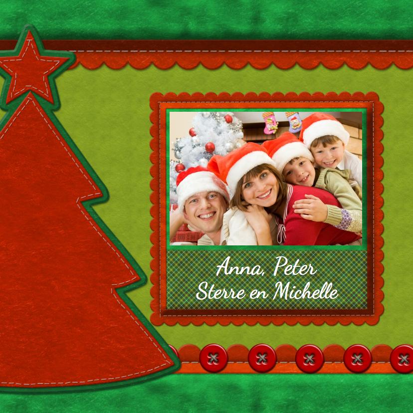 Kerstkaarten - Kerstkaart - Stof met foto
