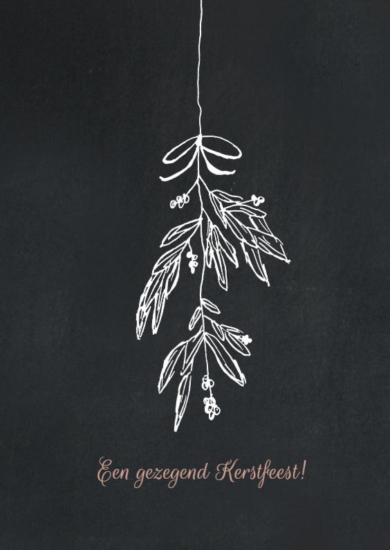 Kerstkaarten - Kerstkaart tak en tekst