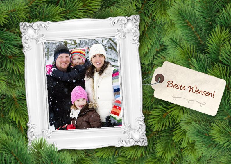 Kerstkaarten - Kerstkaart -Takken en lijst