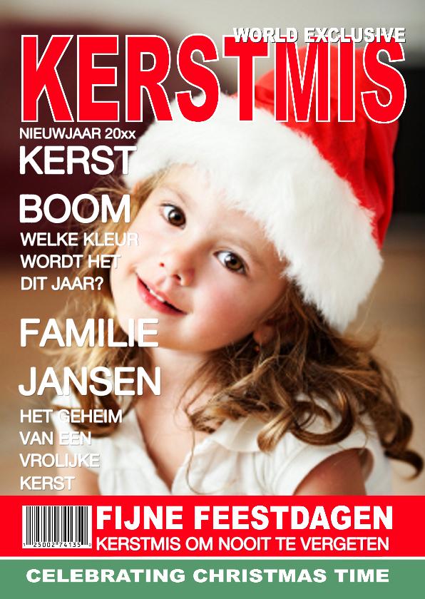 Kerstkaarten - Kerstkaart Tijdschrift Cover