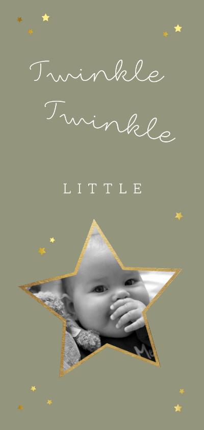 Kerstkaarten - Kerstkaart twinkle twinkle little star