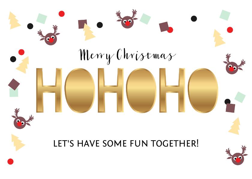 Kerstkaarten - Kerstkaart uitnodiging feestje confetti