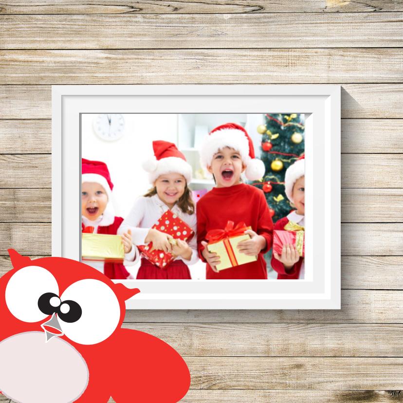 Kerstkaarten - Leuke kerstkaart met foto gezin en kerstsfeer