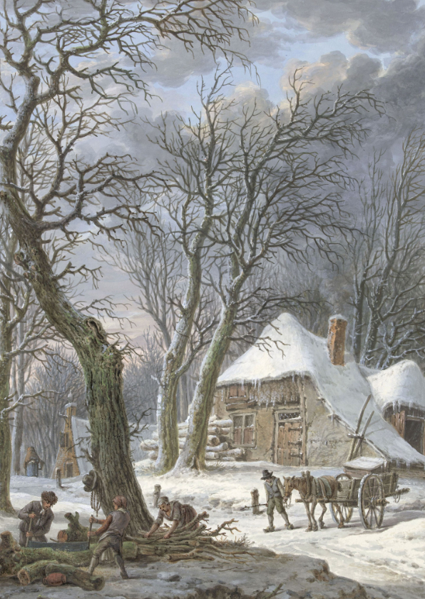 Kerstkaarten - Kerstkaart van Pieter Barbiers, Winterlandschap