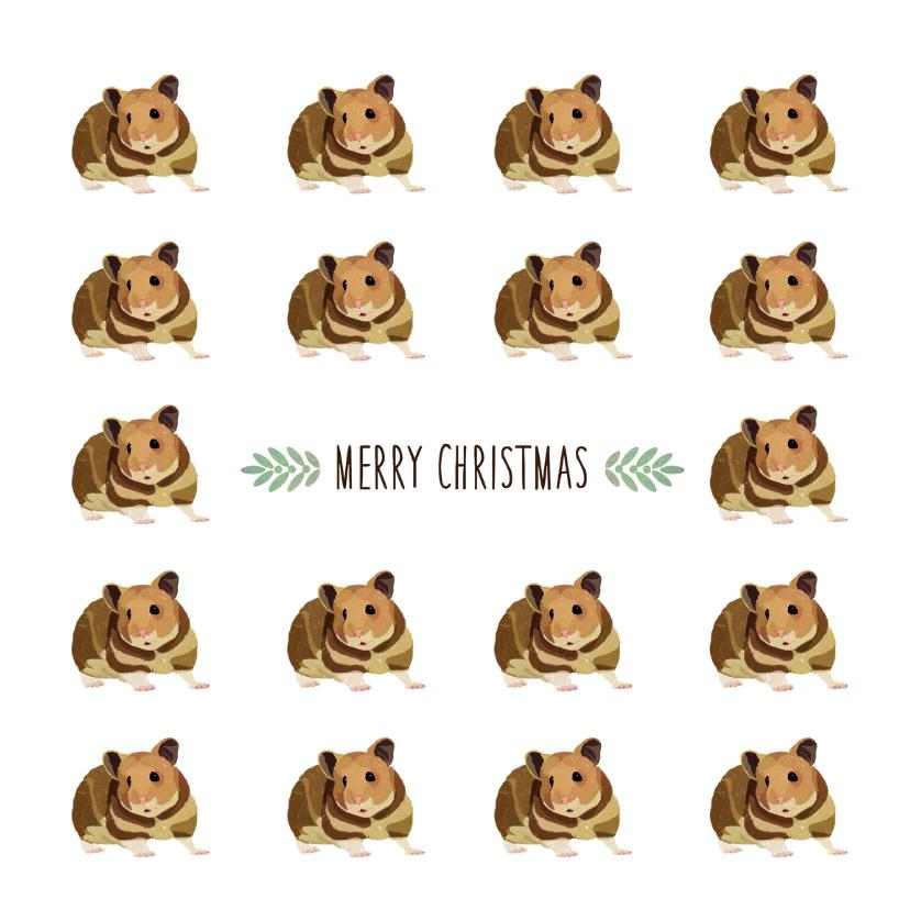 Kerstkaarten - Kerstkaart Veel Hamsters - EG