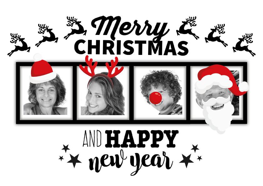 Kerstkaarten - Kerstkaart verkleed met 4 foto's