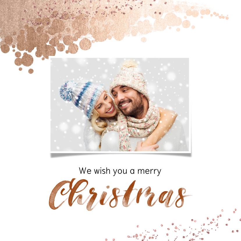 Kerstkaarten - Kerstkaart vierkant met foto