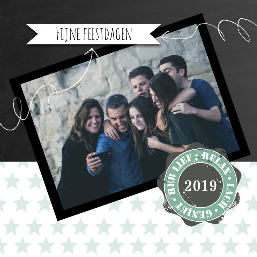 Kerstkaarten - Kerstkaart vintage 2019 foto-IP