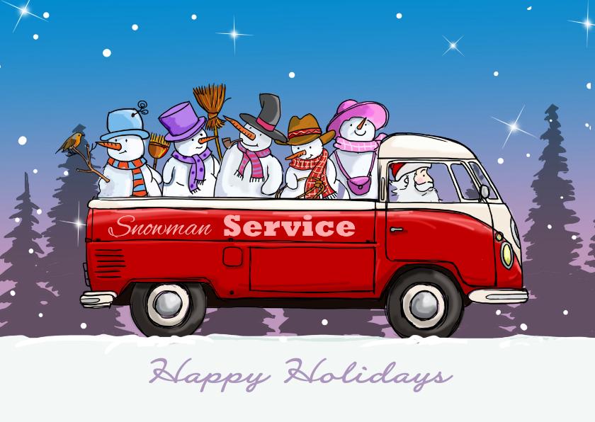 Kerstkaarten - Kerstkaart VW bus pickup