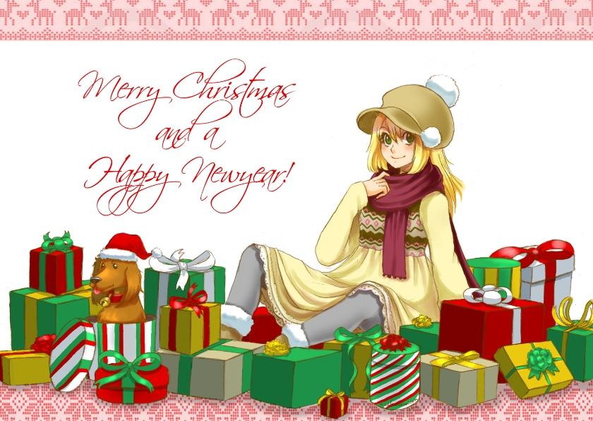 kerstkaart warm christmas - MT 1