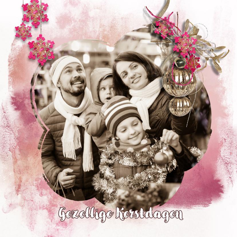 Kerstkaarten - Kerstkaart watercolors met eigen foto