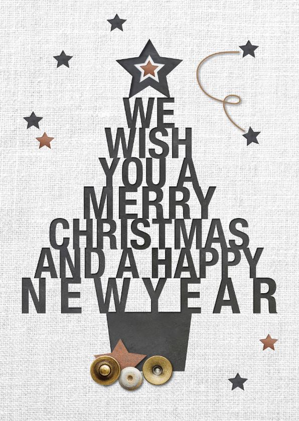 Kerstkaarten - Kerstkaart - we wish you