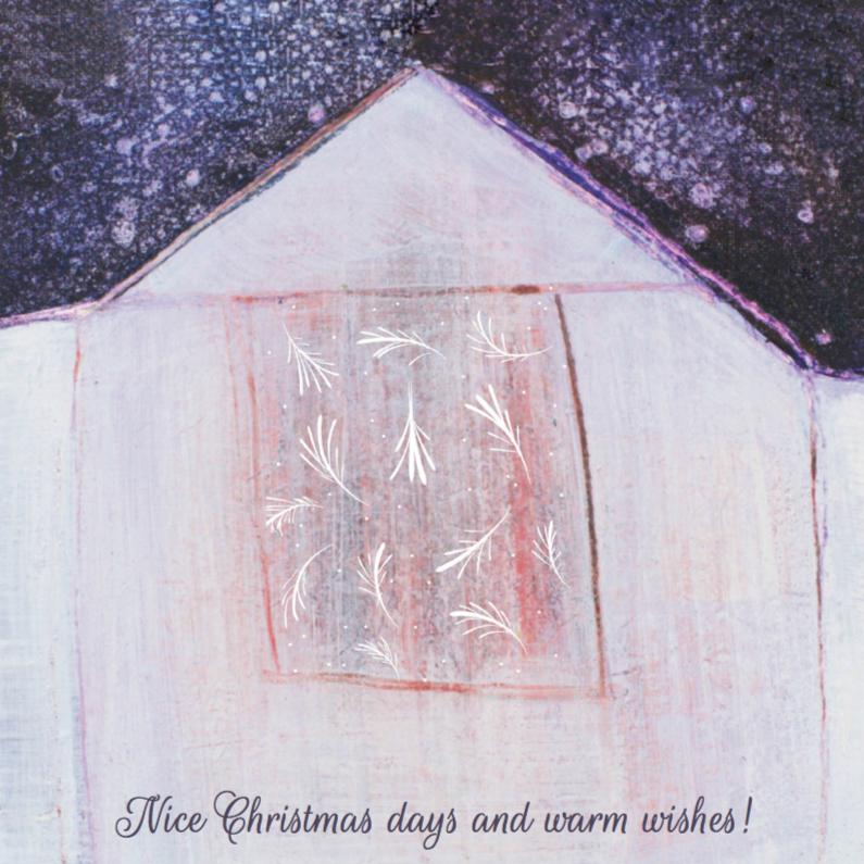 Kerstkaarten - Kerstkaart  winter huis
