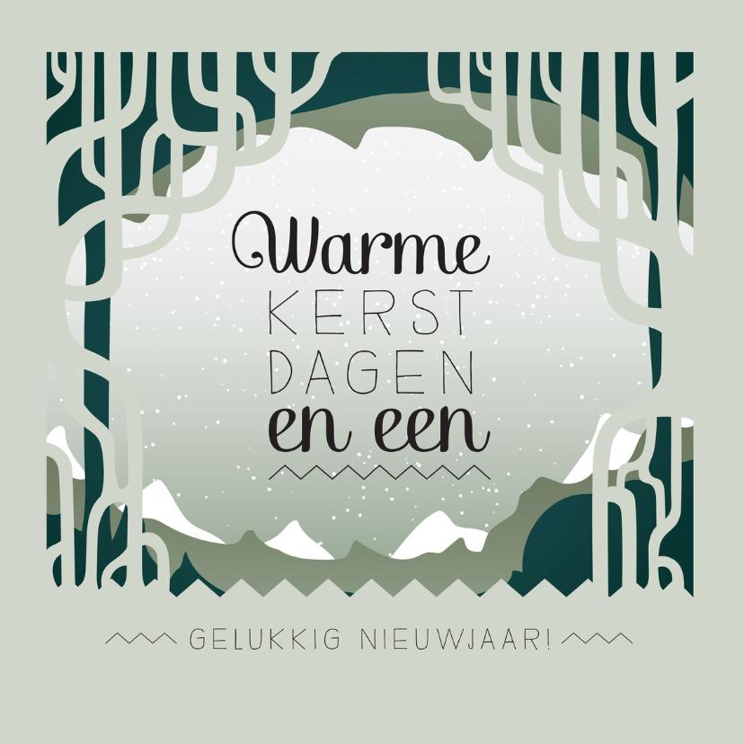 Kerstkaarten - Kerstkaart winter scandinavisch