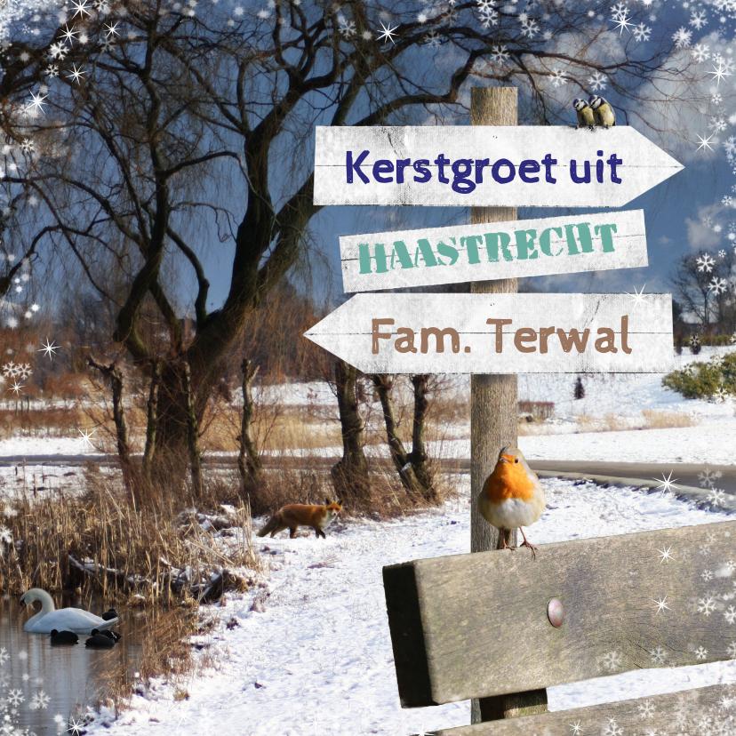 Kerstkaarten - Kerstkaart winters park