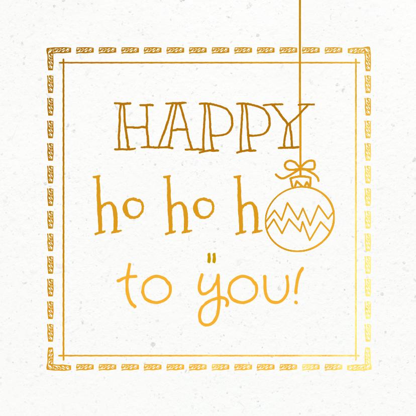Kerstkaarten - Kerstkaart wit goud papier