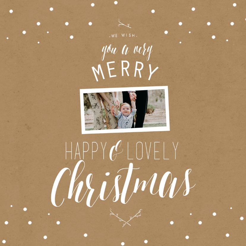 Kerstkaarten - Kerstkaart woorden boom kraft