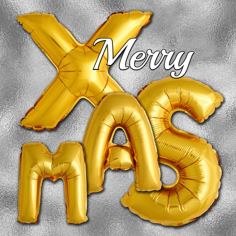 Kerstkaarten - Kerstkaart XMAS ballonnen - OT