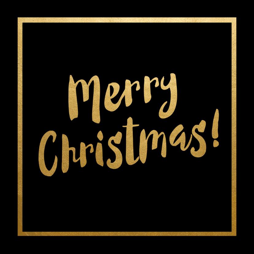 Kerstkaarten - Kerstkaart zwart met goud - SU