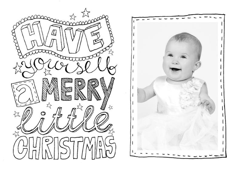 Kerstkaart zwartwit tekst & foto 1