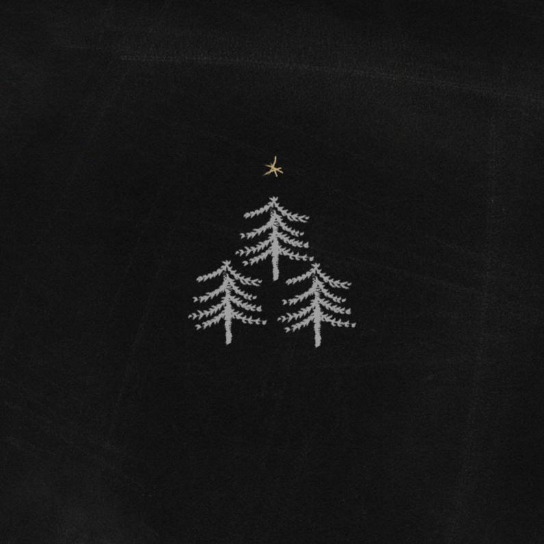 Kerstkaarten - Kerstkaarten 3 Boompjes Y
