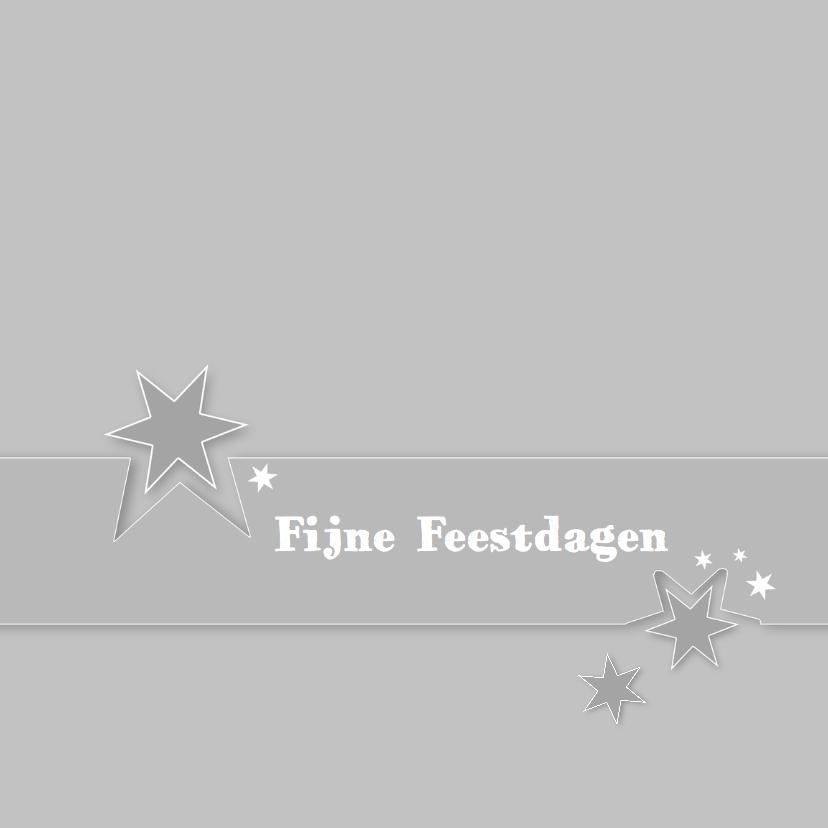 Kerstkaarten - Kerstkaarten Band met sterren