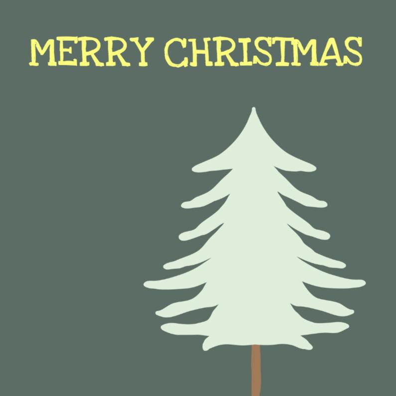Kerstkaarten - Kerstkaarten Fancy kerstboom