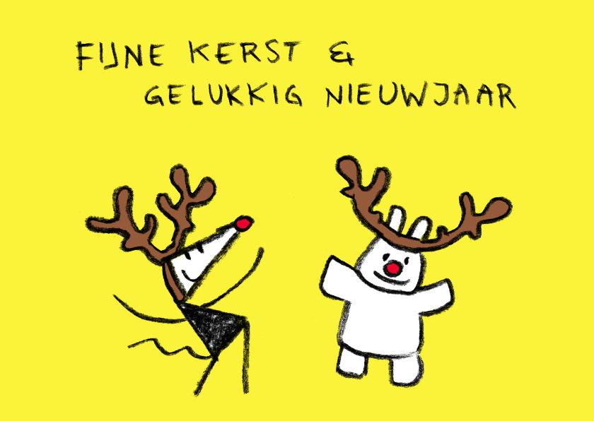 Kerstkaarten - Kerstkaarten Joep & Hop neus