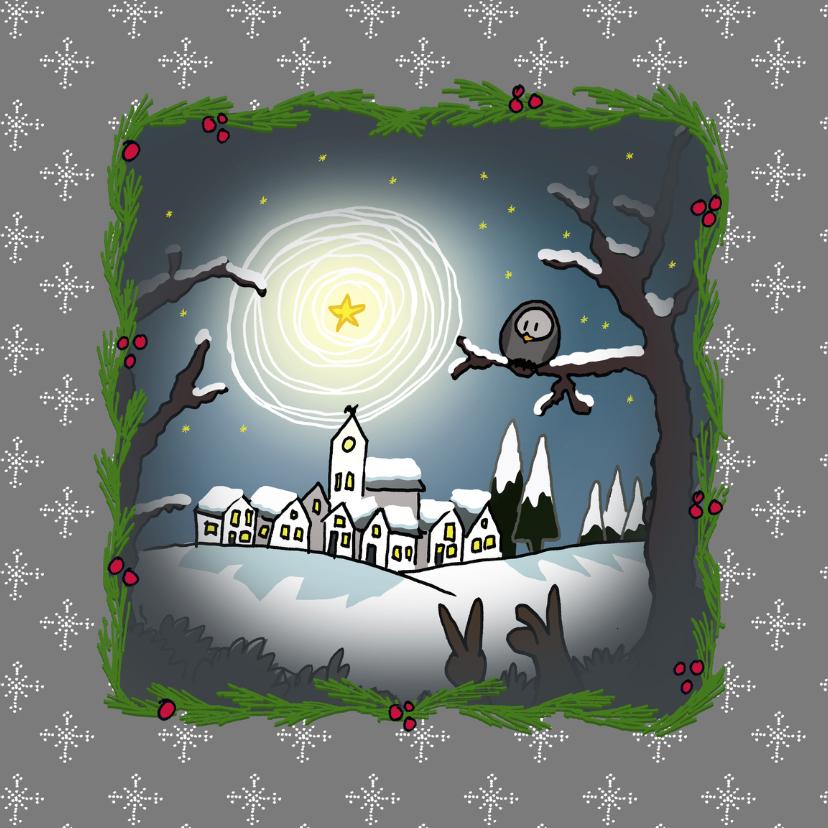 Kerstkaarten - kerstkaarten-landschap sneeuw