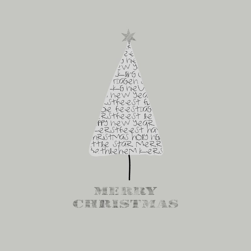 Kerstkaarten - Kerstkaarten Letterboompje YO
