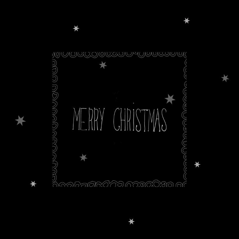 Kerstkaarten - Kerstkaarten Met rand en sterren