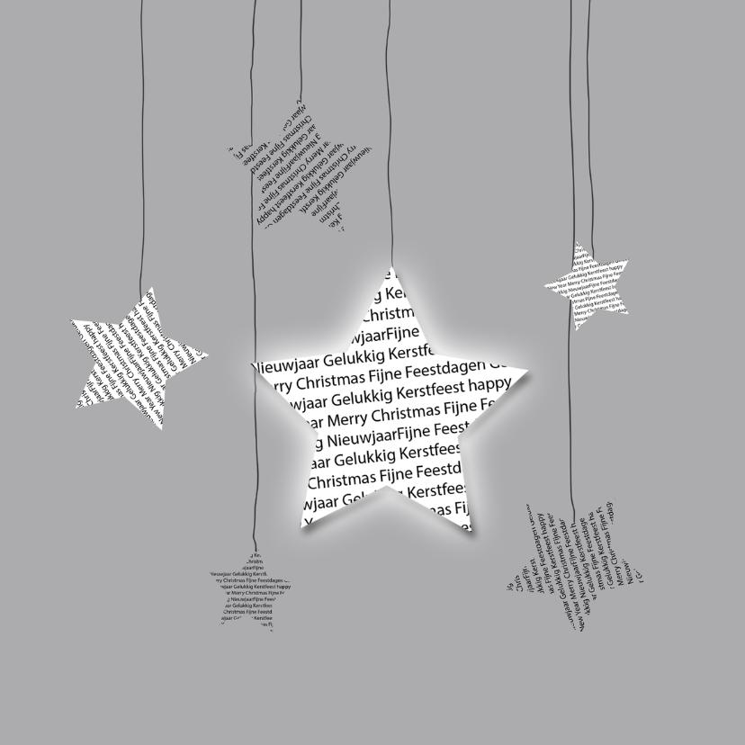 Kerstkaarten - Kerstkaarten Sterren met tekst Y