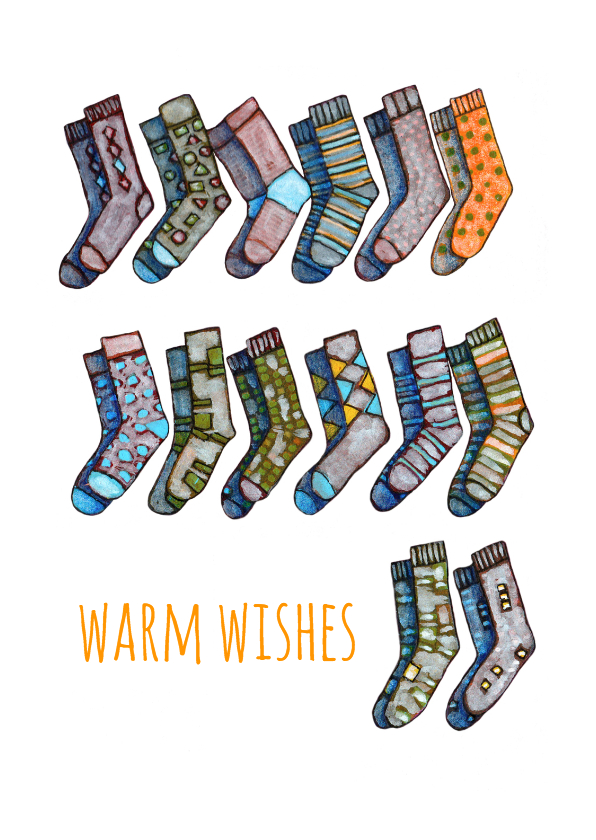 Kerstkaarten - Kerstkaarten-warm wishes-KK