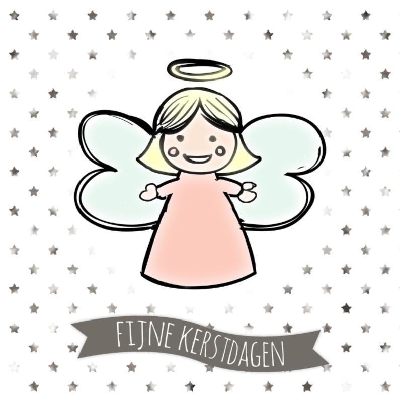 Kerstkaarten - Kerstkaartje Engel - WW