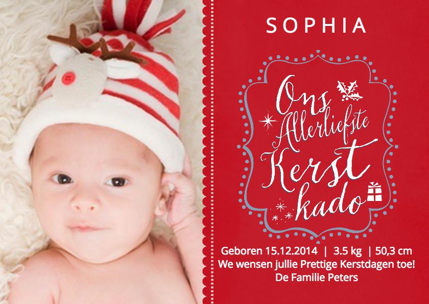 Kerstkaarten - Kerstkindje Geboren Kerst Baby