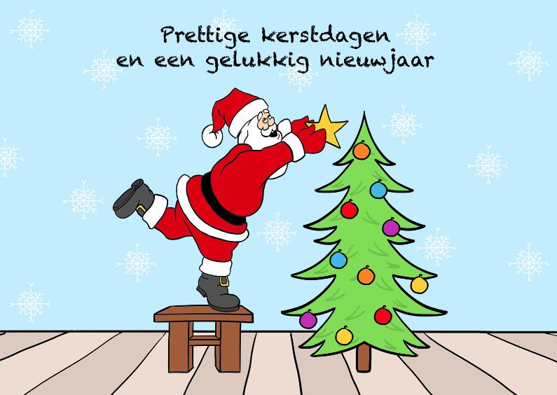 Kerstkaarten - Kerstman -liggend-