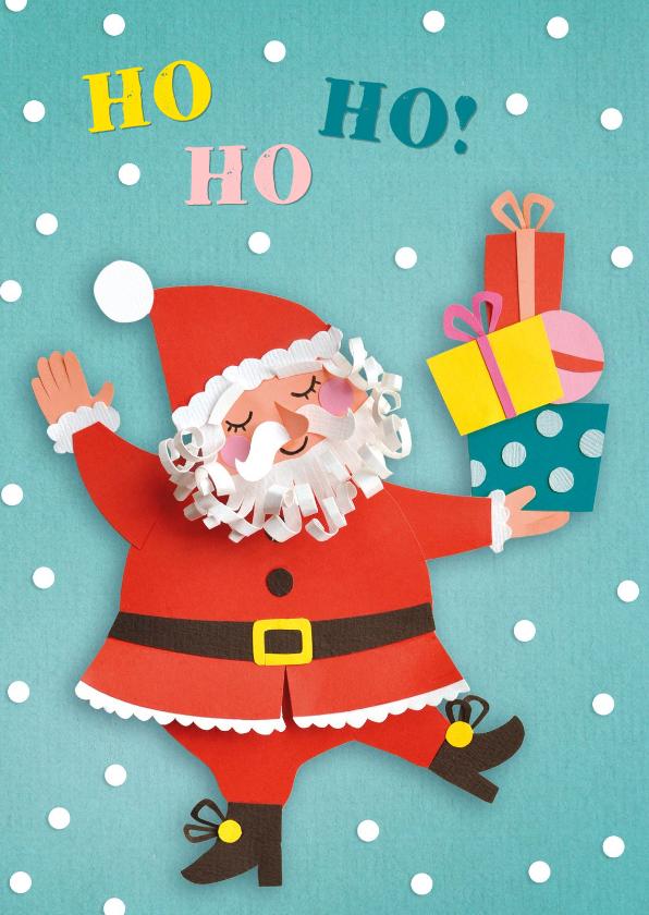 Kerstkaarten - Kerstman met cadeautjes
