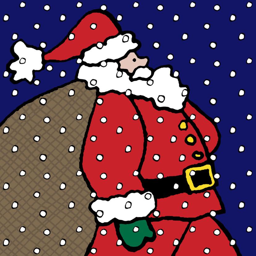 Kerstkaarten - Kerstman met Pakjes