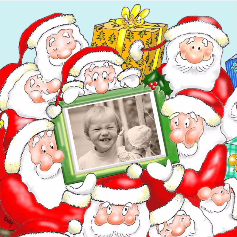 Kerstkaarten - Kerstmannen met foto