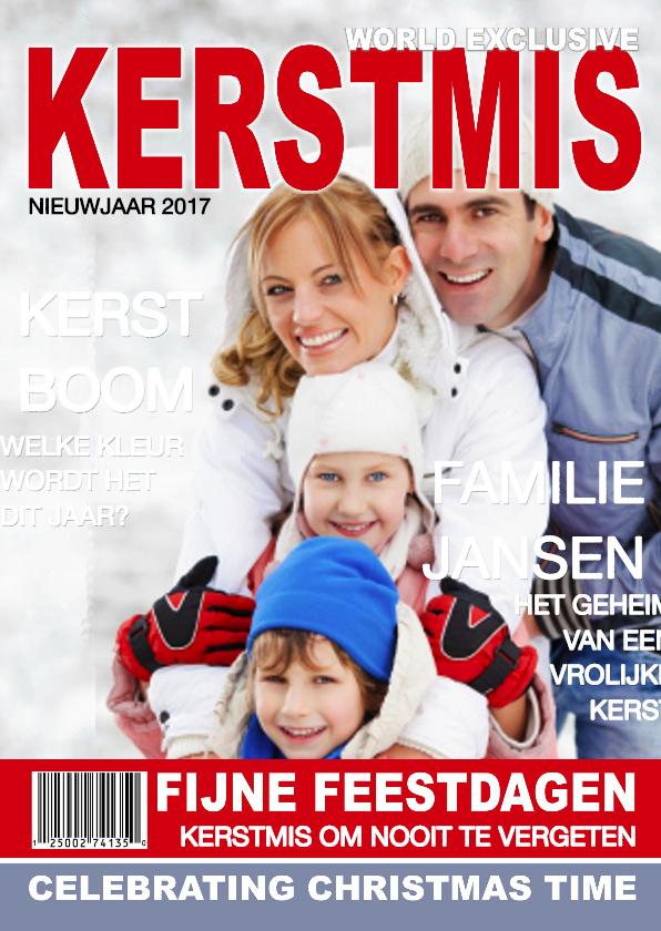 Kerstkaarten - KERSTMIS eigen foto Tijdschrift