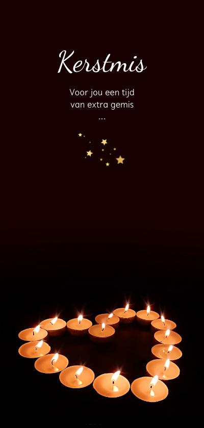 Kerstkaarten - Kerstmis hart met licht