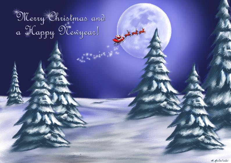 Kerstkaarten - KerstNacht1