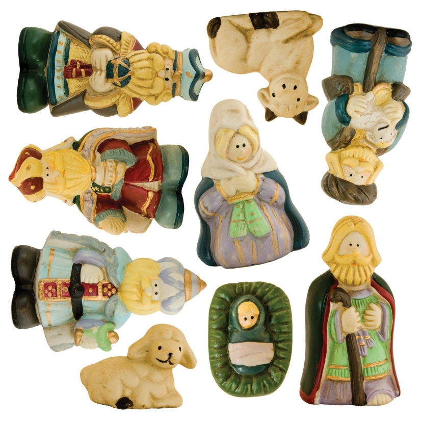 Kerstkaarten - Kerststalfiguren