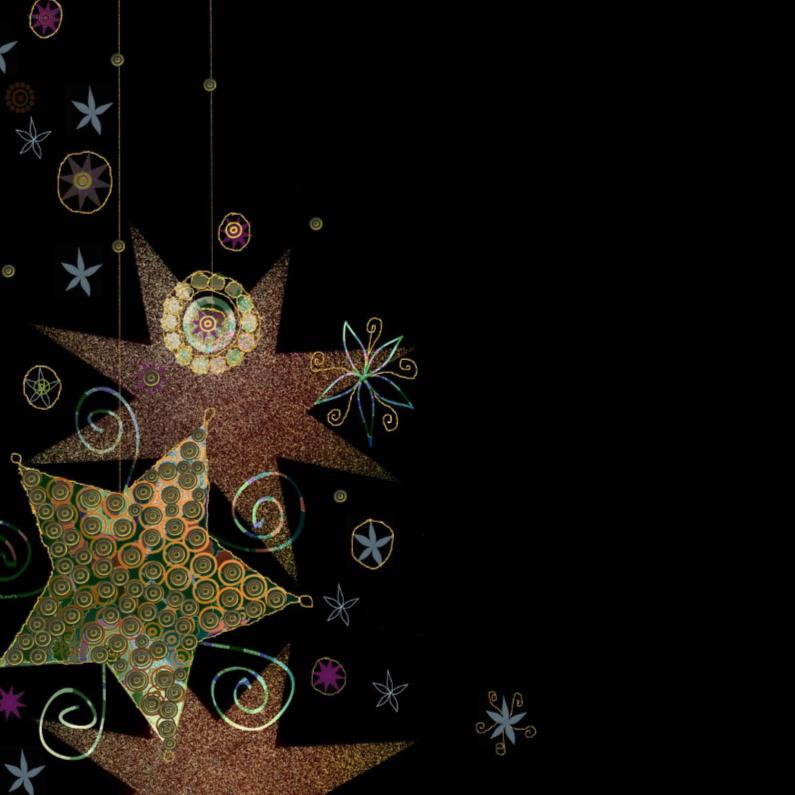 Kerstkaarten - Kerststerren trendy