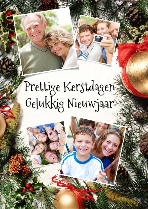 Kerstkaarten - Kerststuk collage 4 foto's